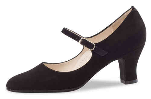 Ashley 6 cm Samtziege schwarz Comfort