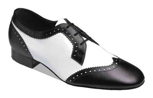 6400 - Black & White Leather