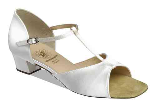 1007 White Satin Kinderschuh
