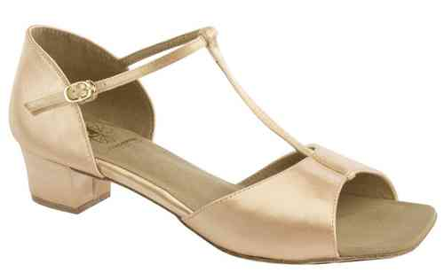 1007 Flesh Satin Kinderschuh