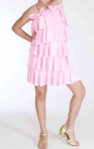 Lauren Multi Ruff Dress - Rose