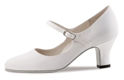 Ashley 6 cm Satin weiss comfort