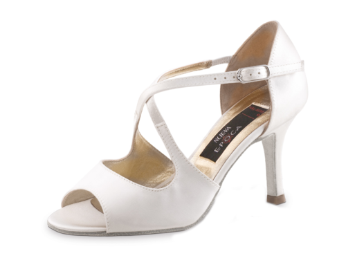 Mable 8 cm - Exlusive - Satin Weiss
